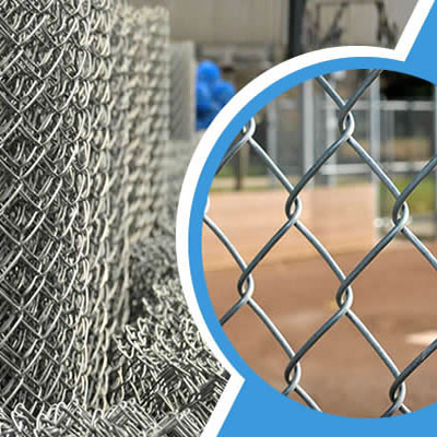 metal chain grid fences
